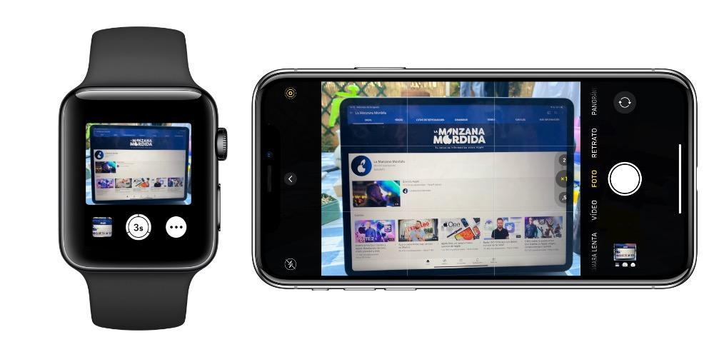 Cámara Apple Watch iPhone