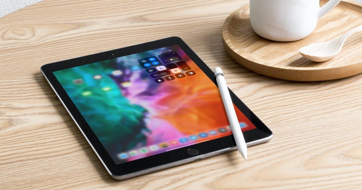 Centro de control iPad iPadOS