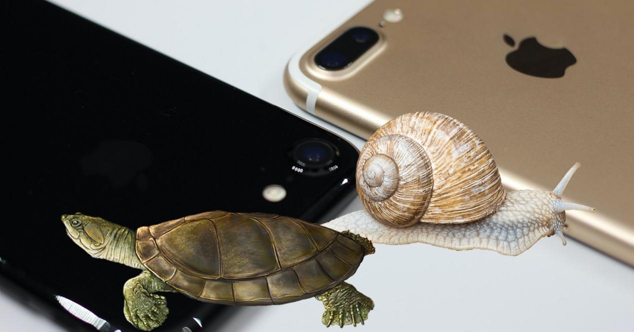 iPhone 7 lento