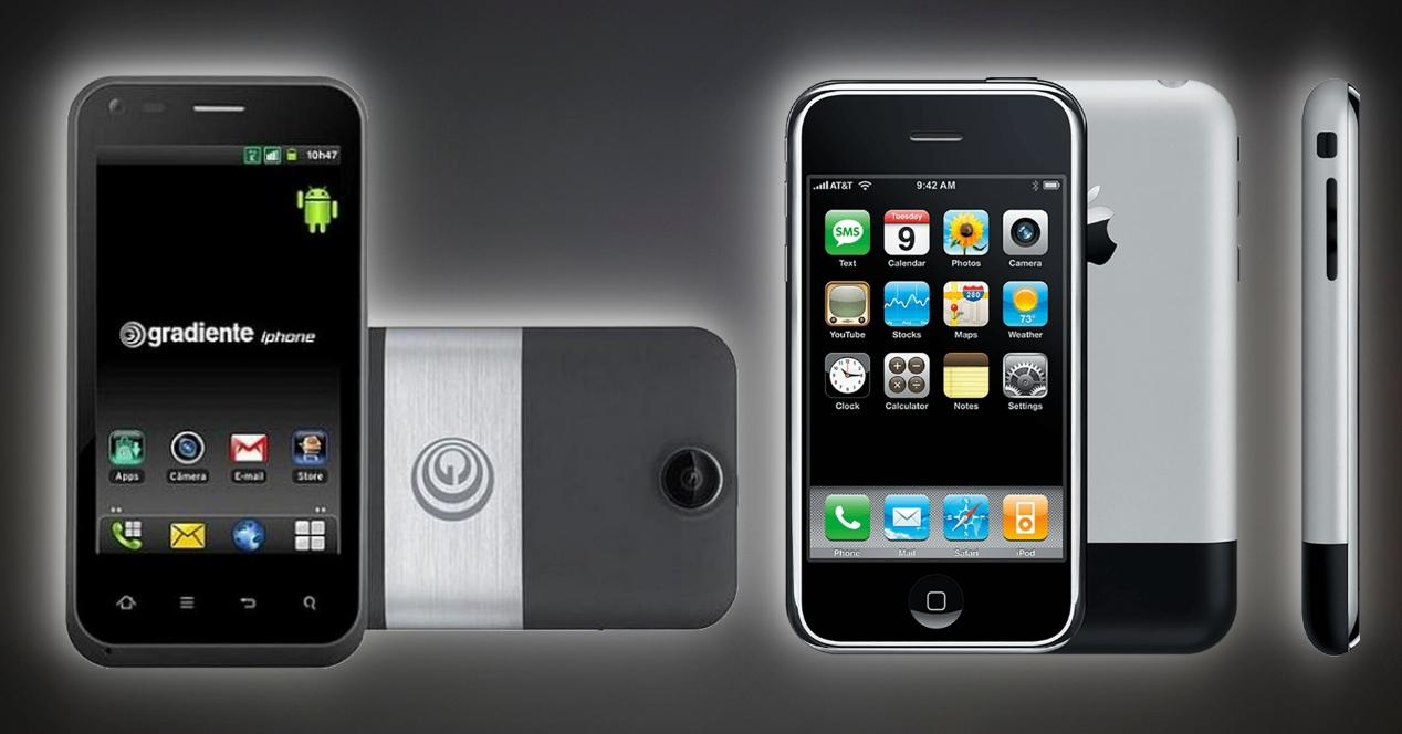 iPhone con Android IBG G Gradiente iphone