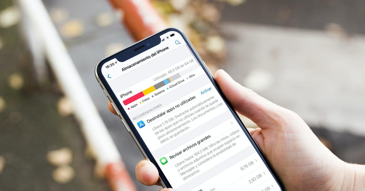 Cuánta memoria en GB tiene un iPhone