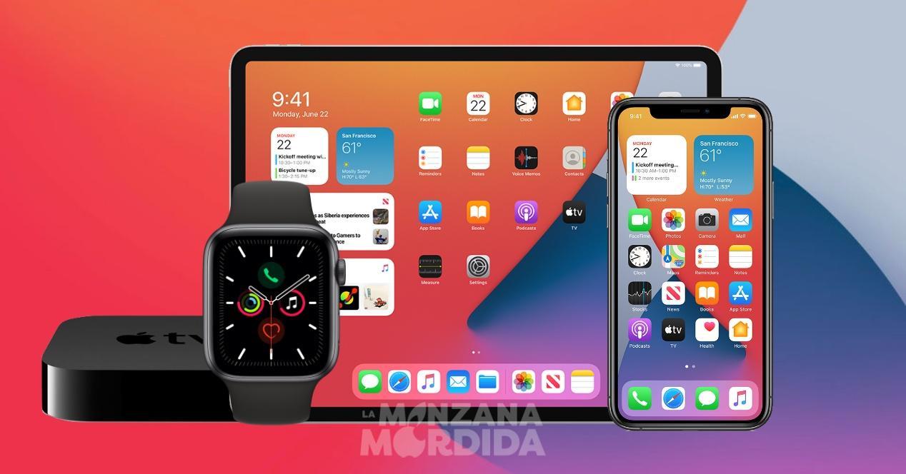 Lanzamiento oficial iOS 14 iPadOS 14 watchOS 7 tvOS 14