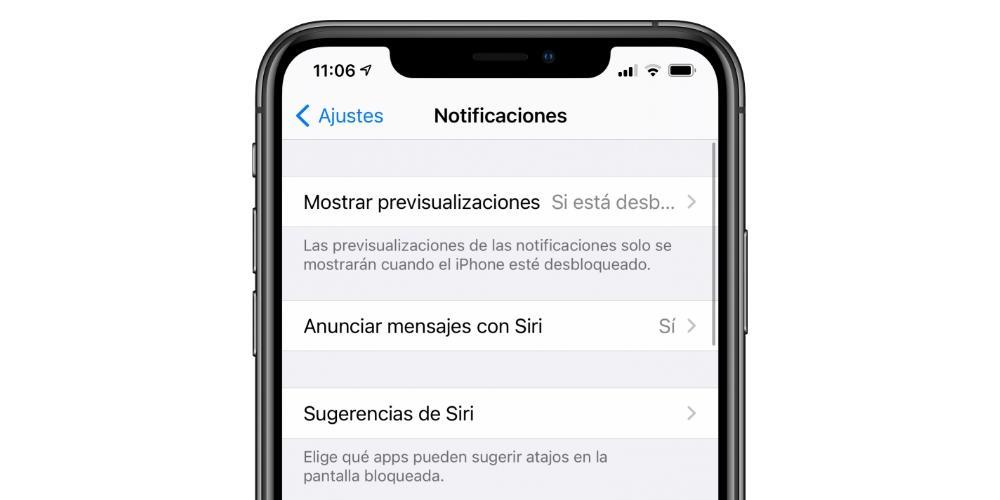 Notificaciones de iPhone