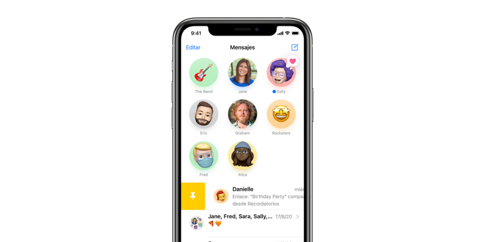 fijar mensajes iMessage