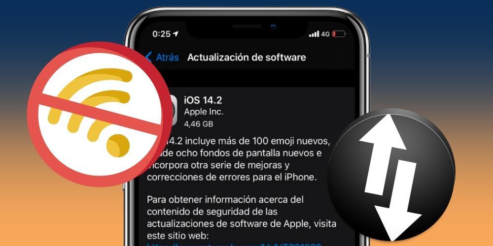Actualizar iPhone sin WiFi