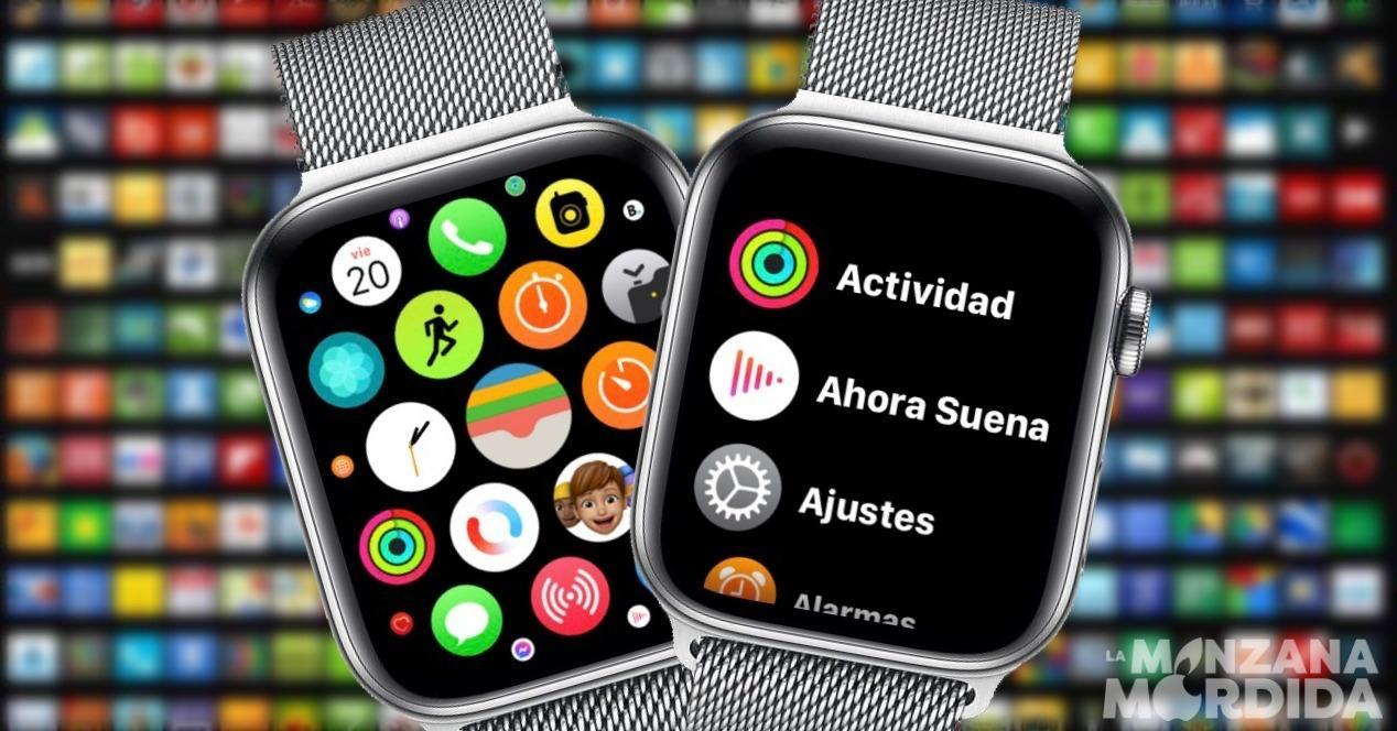 Cambiar menu Apple Watch