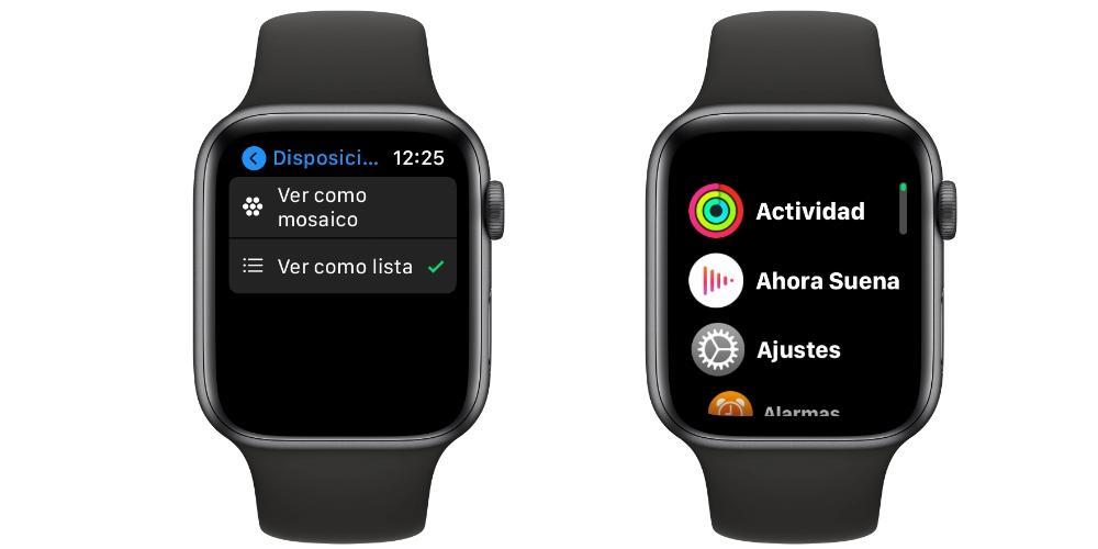 vista aplicaciones Apple Watch
