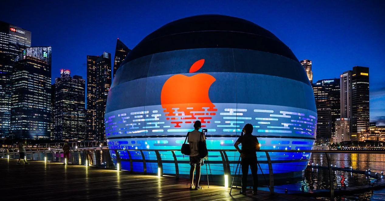 Apple Store flotante en Singapur