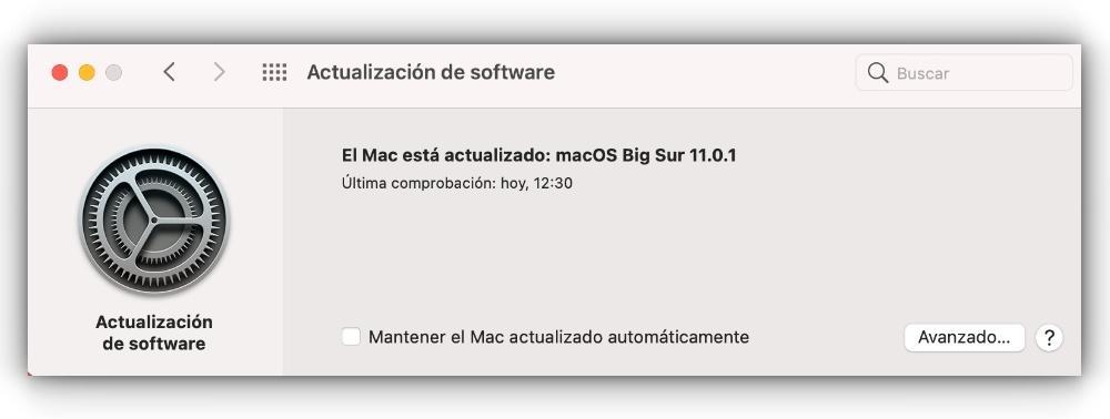 Eliminar las actualizaciones automáticas de macOS en Mac