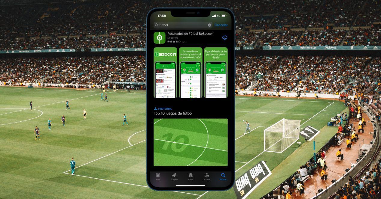 Aplicaciones de resultados de futbol para iPhone