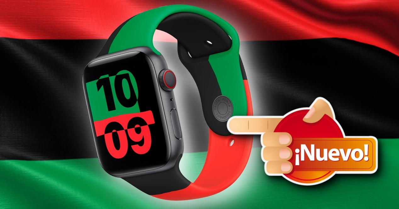 Nuevo Apple Watch Series 6 bandera panafricana