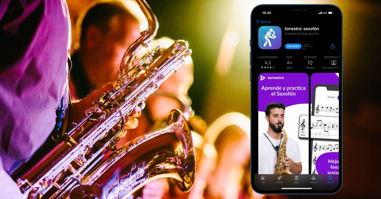 apps para aprender a tocar el saxofón