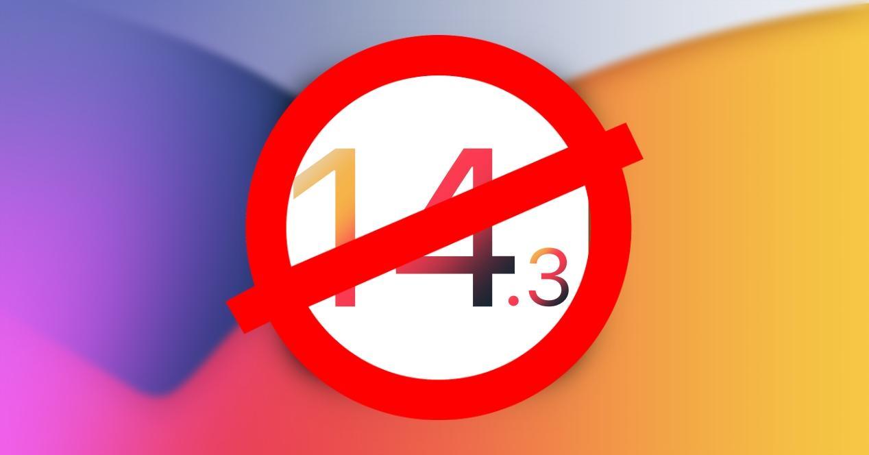 Apple deja de firmar iOS 14.3