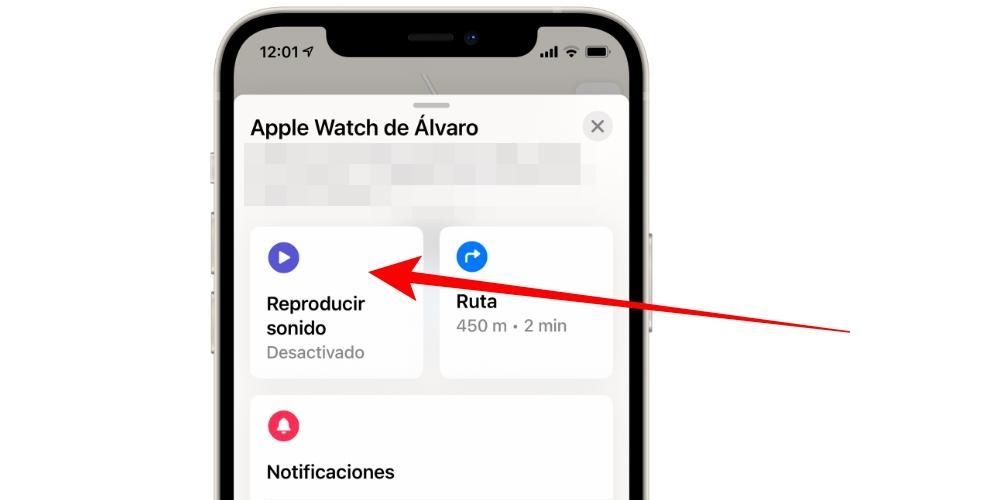 Reproducir sonido Apple Watch
