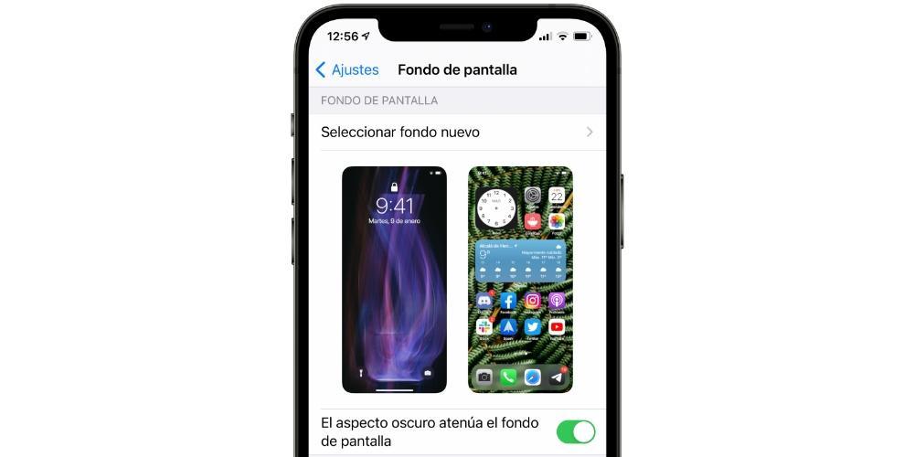 aspecto oscuro iphone fondo de pantalla