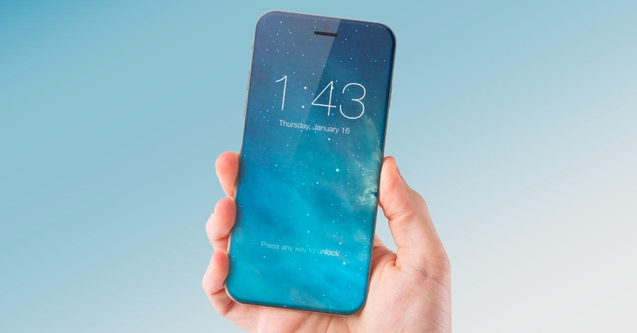 Concepto iPhone sin notch