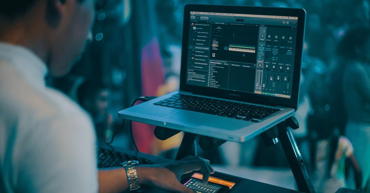 Mesa de mezclas en el Mac