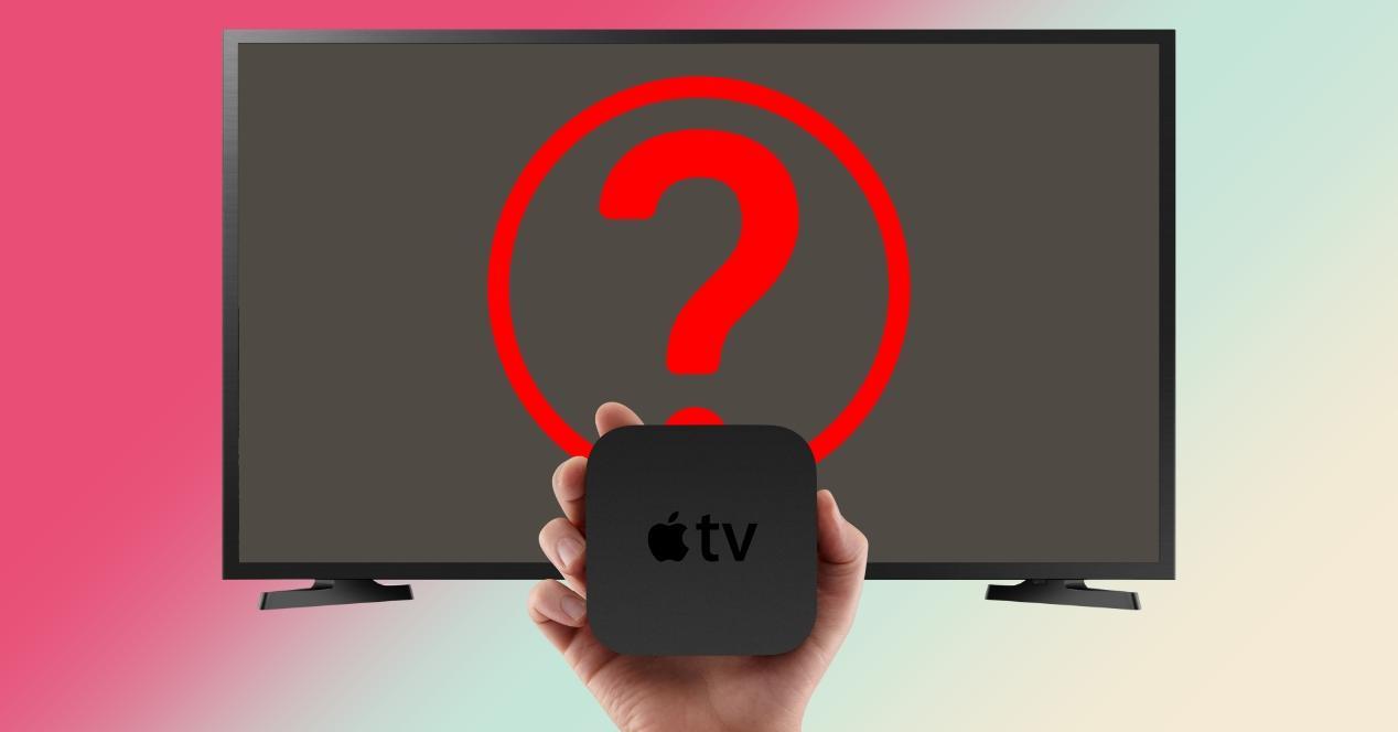 apple tv no se ve en television monitor pantalla