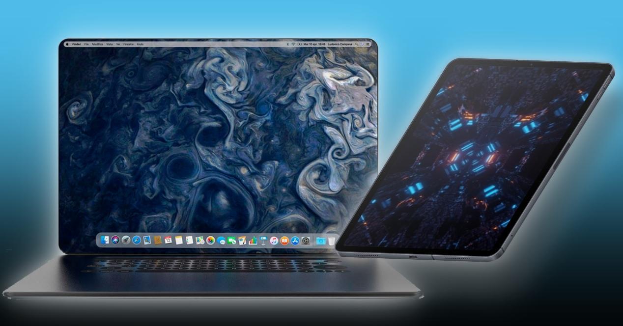 iPad y MacBook concepto pantallas