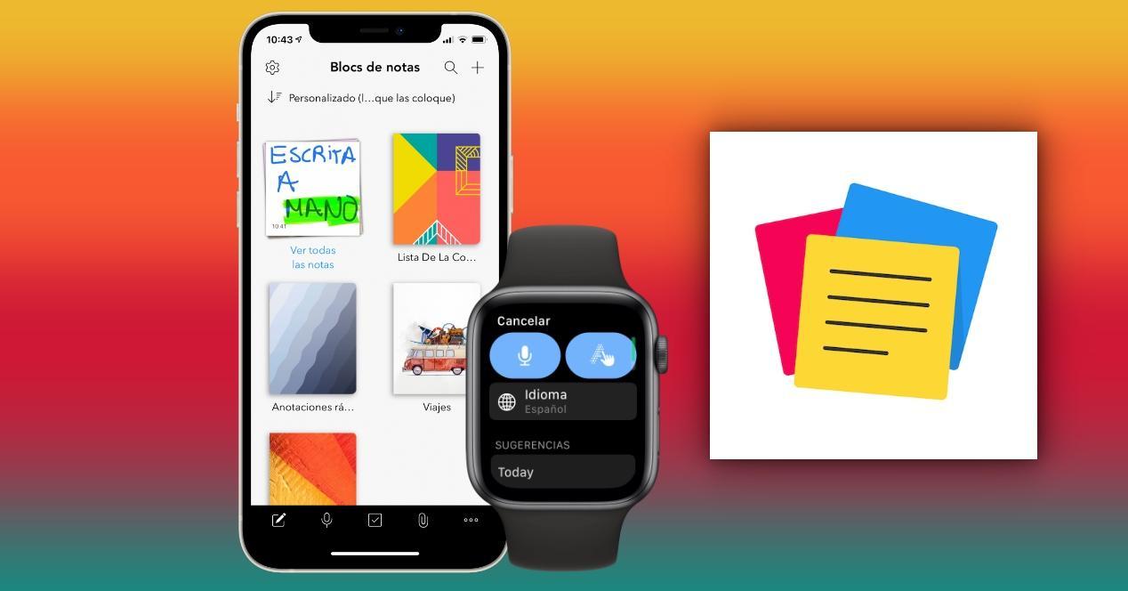 notebook app notas apple watch y iphone