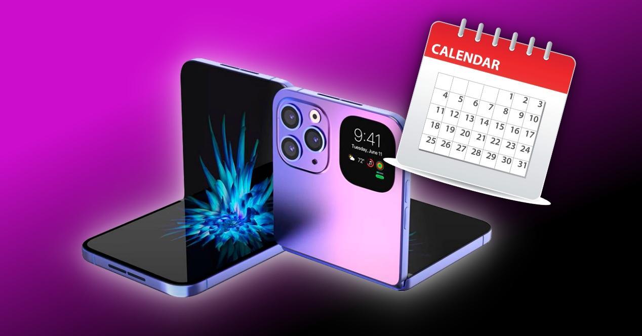 posible fecha lanzamiento iphone plegable