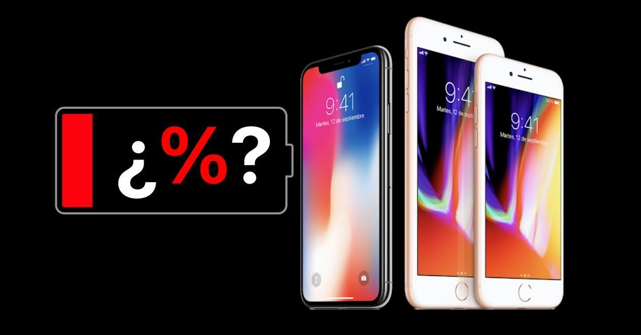 porcentaje bateria iphone