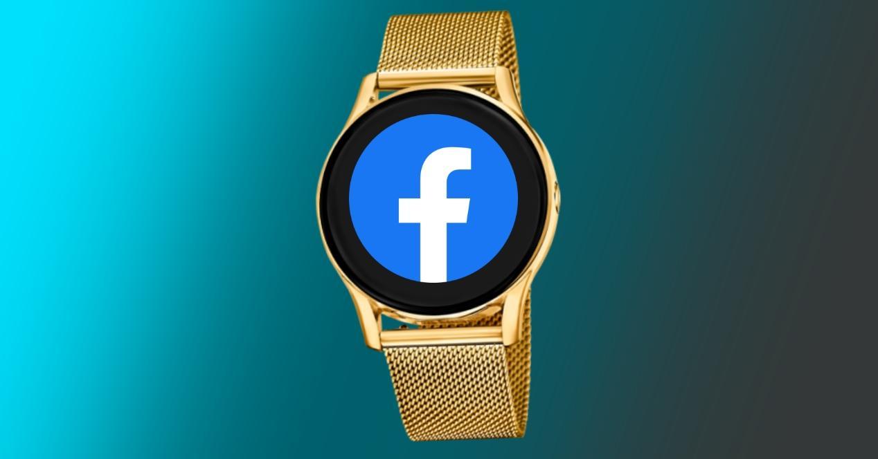 concepto reloj facebook