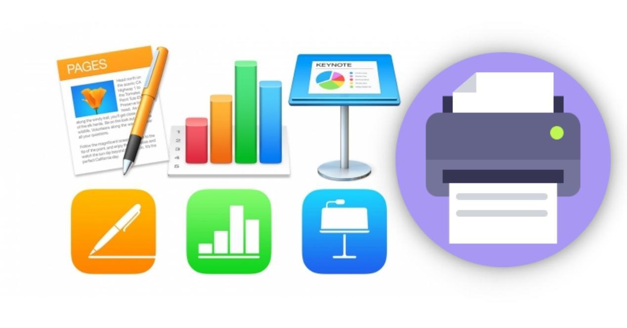 imprimir pages, keynote, numbers iwork