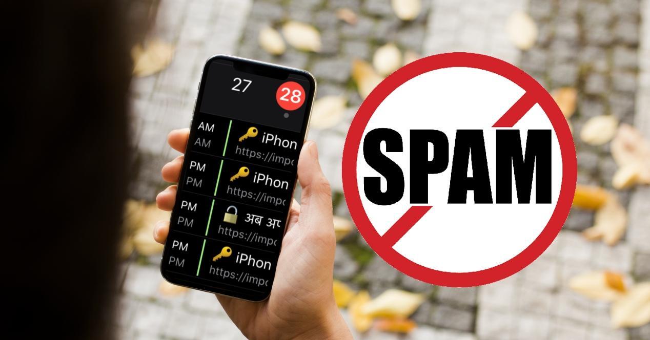 spam calendario iphone