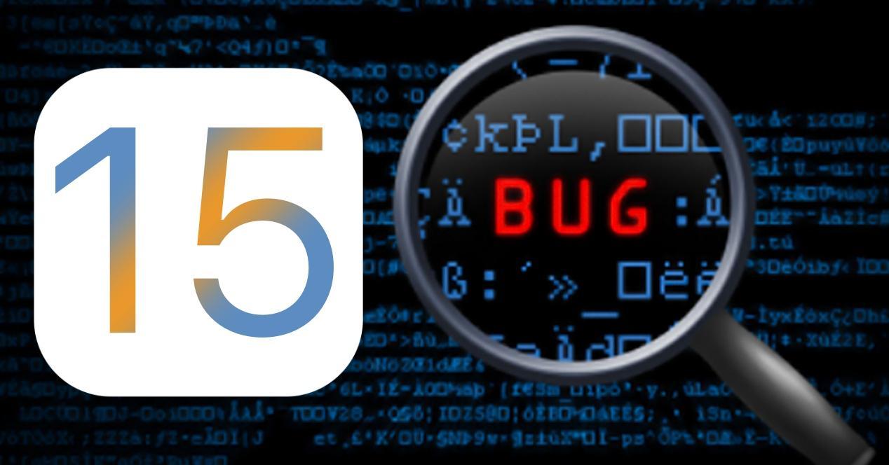 bugs ios 15