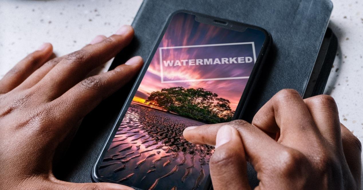 marca de agua iphone