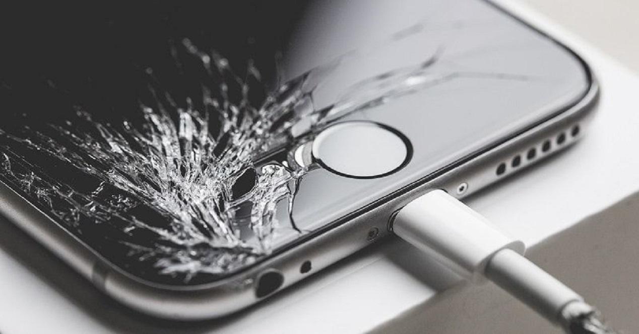 pantalla iphone rota
