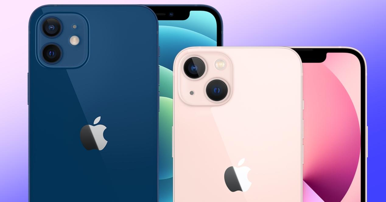 comparativa diferencias iphone 12 y iphone 13