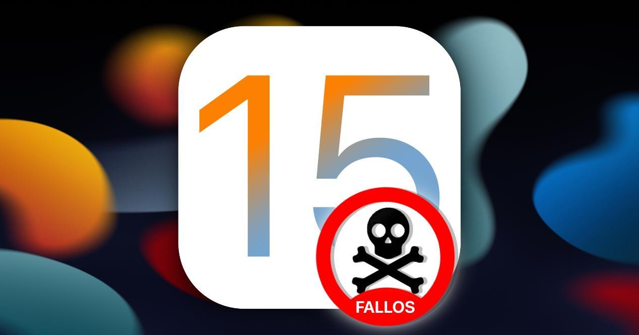 fallos de ios 15 en iphone