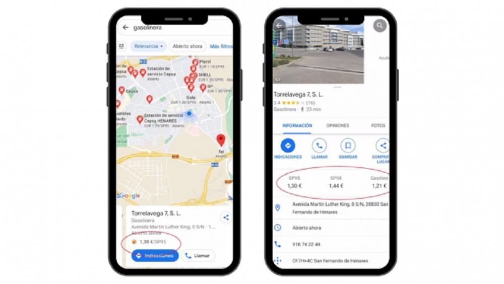 google maps benzină