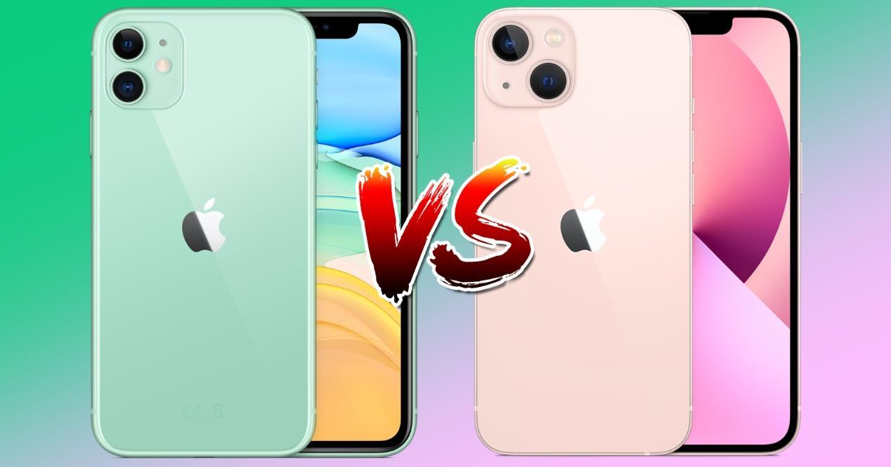 comparativa iphone 11 y iphone 13