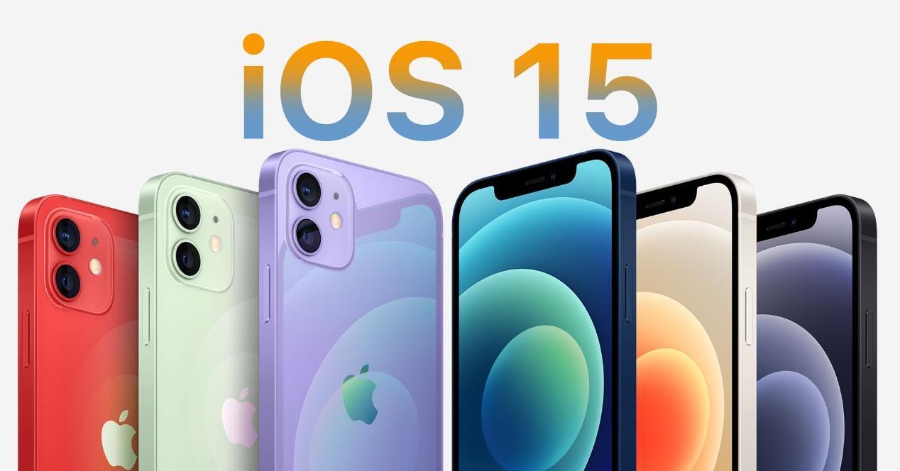 ios 15 en iphone 12
